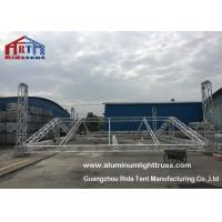High Safety Aluminum Light Truss , Stage Lighting Scaffolding 650g Color Fabric Roof Cover