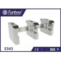 LED Light Swing Barrier Turnstile Access Control Systems Multiple Infrared Sensor