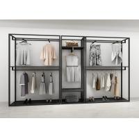 Buy cheap Simple Black Clothing Display Showcase Iron Art With Anti Rust Metal Material product
