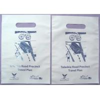 Buy cheap Disposable Cornstarch Biodegradable Plastic Bag With Handle Hole from wholesalers