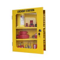 Buy cheap Lockey Safety Management Lockout Station Wall Mounted Hardened Yellow Steel from wholesalers