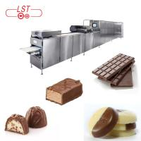PLC Controlled Chocolate Production Line For Chocolate Bar With Servo System
