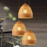 Buy cheap Wicker basket pendant lights Kitchen Dining room Sitting room Decor (WH-WP-18) from wholesalers