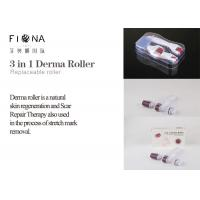 Buy cheap Titanium 3 in 1 changeable heads 180/600/1200 needle derma roller with micro needle roller from wholesalers