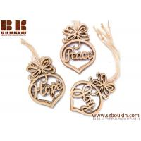 Buy cheap Laser Cut Peace, Hope and Joy Wood Ornaments Christmas Tree Decoration from wholesalers