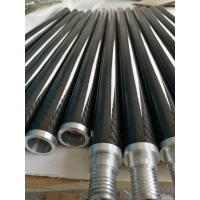 Buy cheap Aluminum joint connect 3K twill carbon fiber tube tubing tubes with aluminum thread product