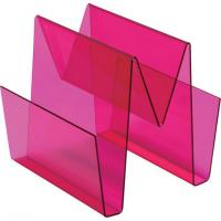 Buy cheap Red Document Acrylic Display Holders / Perspex Table Top Brochure Stands product