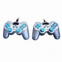 Buy cheap PC USB Double Game Pads with Shocks and Plug-and-play Function from wholesalers