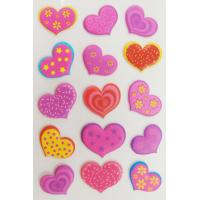 China Personalized Heart Shaped Stickers For Wedding Favors Non Toxic Silk Printing on sale