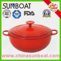 Buy cheap hot sale red color painted cast iron cookware enamel dutch oven from wholesalers
