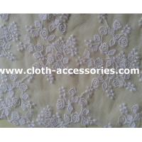 Buy cheap Small Colored Rosette Lace Fabric / Guipure Cotton Net Fabric With Polymide Mesh from wholesalers