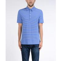 Buy cheap Combed Cotton Men's Stripes Polo Shirt Four - button Placket Mixed Color from wholesalers