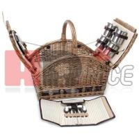 Buy cheap Willow&Seagrass&Wooden Picnic Basket from wholesalers