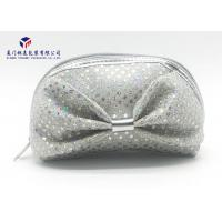 Buy cheap Colored Fabric Pretty Makeup Bags Silver Sequins On Bag Long Service Life from wholesalers