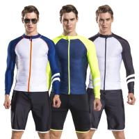 Buy cheap 2017 newly design mens long sleeve rash guard swim suit diving suit with shorts pants wholesale from wholesalers