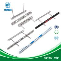 Buy cheap Alibaba china supplier metal spring clip / flat spring steel / snack clips from wholesalers