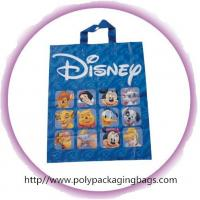 Buy cheap Fashion Blue Disney Soft Loop Plastic Handle Bags Promotional from wholesalers