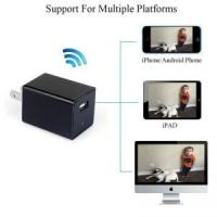 Buy cheap 720P Spy Camera Adapter Wifi AC Plug Hidden Camera Wall USB Charger Camera Nanny Camcorder Video Recorder Cam Home Surve from wholesalers