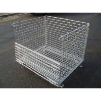 Buy cheap W-2 Collapsible Wire Mesh Container with Half-hinged Gate from wholesalers
