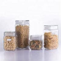 Buy cheap series of antique decorative glass storage jar / storage canister with glass lid food packaging from wholesalers
