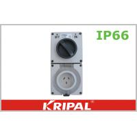 China 10A IP66 Weatherproof Switch Socket Outlet 250V Rotary Power Switch on sale