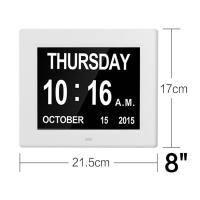 Buy cheap 8 Inch Video Brochure Card LED Digital Desk Electronic Perpetual Calendar Alarm Day Clock White Color/UL Adapter/Extra l from wholesalers