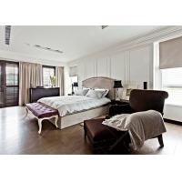 Buy cheap New Luxury Hotel Contemporary Platform Bed , Grey Bedroom Furniture Set Solid Wood from wholesalers