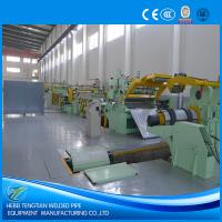 Buy cheap 25 Strips Slitting Line Machine , PLC Control Steel Sheet Slitting Machine from wholesalers