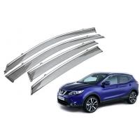 Buy cheap Stainless Steel Shining Garnish Window Visors For Nissan Qashqai 2015 Awning from wholesalers