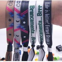 Buy cheap New customed print logo promotional polyester fabric woven sports bracelet gifts outdoor from Wholesalers
