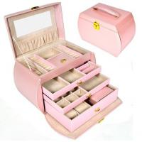 Buy cheap Great Light Pink Jewelry Boxes Storage Box For Wedding Gift Box Wholesale Price HIgh Qaulity PU Leather from wholesalers