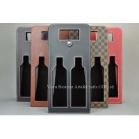 Buy cheap Two bottles leather wine carrier bag BHW-201 from wholesalers