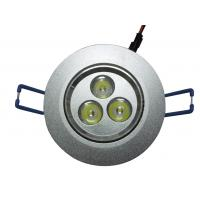 Buy cheap OEM Eco Friendly Epistar Low Power LED Ceiling Lamp / Downlight 3W, 85 - 265V, 50HZ from wholesalers
