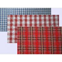 Buy cheap Seersucker Yarn Dyed Custom Cotton Fabric Plaids and Stripes Elastic Crepe Fabric from wholesalers