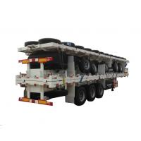 Buy cheap Carry 40ft Or 2*20ft Container  60Ton Flatbe Container Transport Trailer from wholesalers