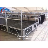 Black Mobile Platform Stage , Portable Folding Stage 18mm Ply - Wooden Board
