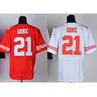 Buy cheap NFL jerseys San Francisco 49ers 21#Gore  white&red Elite Jerseys from wholesalers
