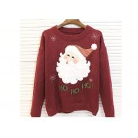 Buy cheap Round Neck Acrylic Lady Ugly Christmas Sweater Embroidered Pattern For Women from wholesalers