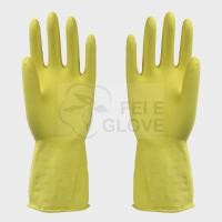 Buy cheap Yellow Heavy Duty Latex Gloves / Rubber Kitchen Gloves For Washing Dishes from wholesalers