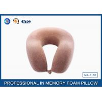 Buy cheap Molded Memory Foam Travel Neck Pillow For Car / Reading , U Shaped Travel Pillow from wholesalers