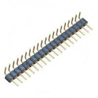 Buy cheap WCON Round Pin Header / 1*20P Ninety Degrees 2.54 Mm Pin Connector from wholesalers