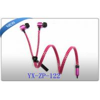 Buy cheap 3.5mm Stereo Zipper Earphones with MIC In Ear Headphones for MP3 CellPhone product