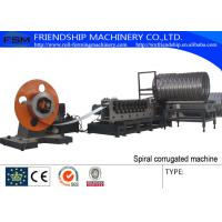 Buy cheap 298 mm Corrugated Culvert Pipe Machine With Seaming Lock and Plasma Cutting from wholesalers
