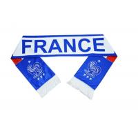 Buy cheap Custom Size Football Fan Scarf / Blue And White Striped Football Scarf from wholesalers