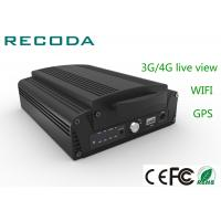 Buy cheap 4ch 1080P HDD Mobile Vehicle DVR 3G / 4G Live View Car Dvr Video Recorder product