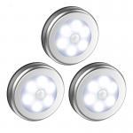 Buy cheap LED Motion Sensor Led Under Cabinet Lights Dry Battery LED Night Light Motion Lamp 6leds PIR Body Motion Wall Ind from wholesalers