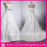 Buy cheap Tulle Real White Sample Bridal Wedding Gown Dress 2012 from wholesalers
