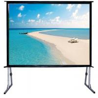 Buy cheap 120 Fast Fold Projector Screen With Flight Case / Outdoor Rear Projector Fabric Stand from wholesalers