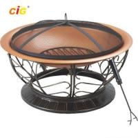 Buy cheap Black Brazier Outdoor Furnitures , 30 Inch Steel Brazier Bbq Grill from wholesalers