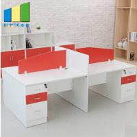 Buy cheap Fashion 60mm Thickness Office Furniture Partitions / Staff Cubicle Workstation from wholesalers